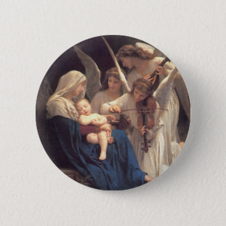 Song of the Angels - William-Adolphe Bouguereau Pinback Button