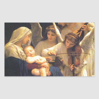 Song of the Angels, William-Adolphe Bouguereau Rectangular Sticker