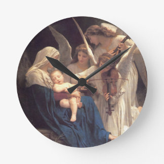 Song of the Angels - William-Adolphe Bouguereau Round Clock