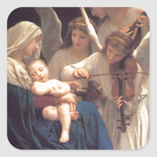 Song of the Angels - William-Adolphe Bouguereau Square Sticker