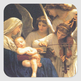 Song of the Angels, William-Adolphe Bouguereau Square Sticker