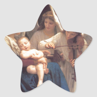 Song of the Angels - William-Adolphe Bouguereau Star Sticker
