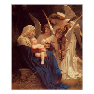 Song of the Angels William Bouguereau Fine Art Poster