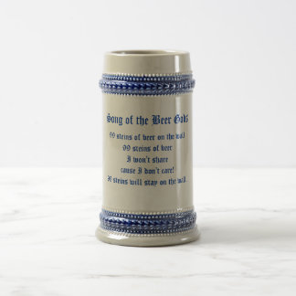 Song of the Beer Gods, 99 steins of beer on the... 18 Oz Beer Stein