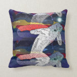 Song of the Beluga Whale throw pillow