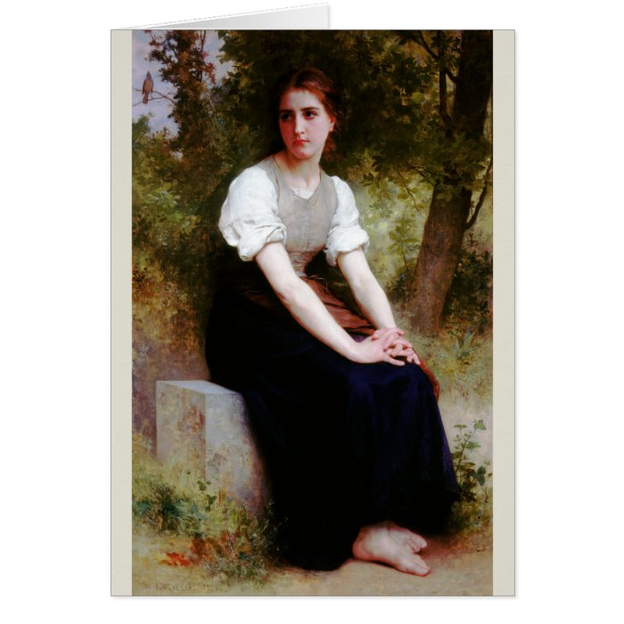 Song of the Nightingale by Bouguereau Card