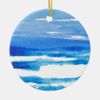 Song of the Seashore - CricketDiane Ocean Waves Ceramic Ornament