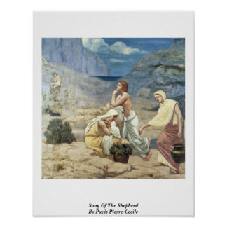 Song Of The Shepherd By Puvis Pierre-Cecile Posters