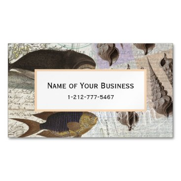 Beach Themed Song of the Whale Business Card Magnet