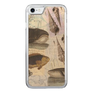 Beach Themed Song of the Whale Coastal Collage Carved iPhone 7 Case