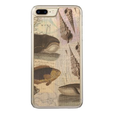 Beach Themed Song of the Whale Coastal Collage Carved iPhone 7 Plus Case