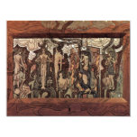 "Song Of Time By Toorop Jan (Best Quality) 4.25"" X 5.5"" Invitation Card"