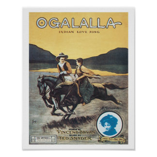 Song Ogalalla Vintage Art Poster