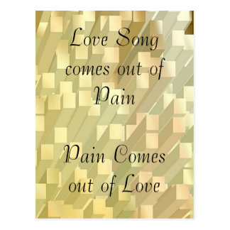 SONG out of PAIN - PAIN out of  LOVE Post Cards