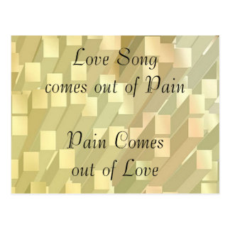 SONG out of PAIN - PAIN out of  LOVE Postcards