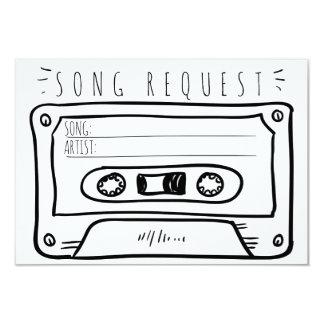 Song Request Wedding RSVP Insert Card Cassette