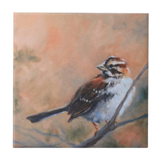 Song Sparrow Fine Art Tile
