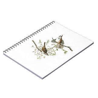 Song Sparrow John James Audubon Birds of America Spiral Notebook