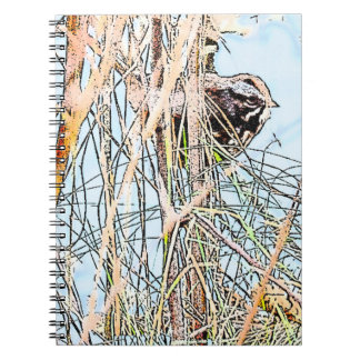 Song Sparrow Spiral Photo Notebook
