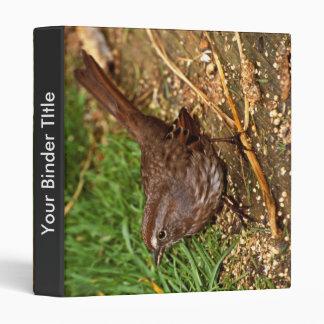 Song Sparrow Vinyl Binder