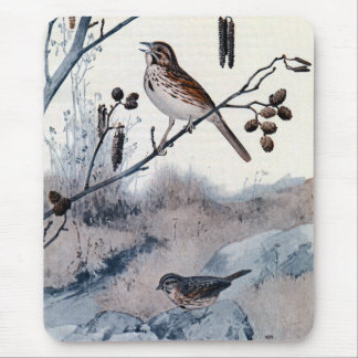 Song Sparrows in the Spring Mousepad