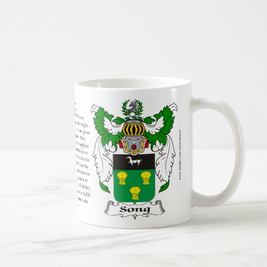 Song, the Origin, the Meaning and the Crest Coffee Mug