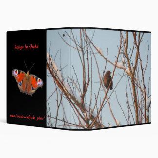 song thrush in bare tree vinyl binders
