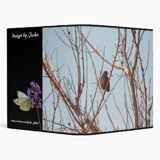 song thrush in bare tree vinyl binder