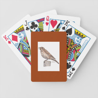 Song Thrush Playing Cards