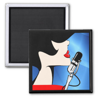"""Songbird 2""""x2"""" Square Magnet, Music Themed Magnet"""
