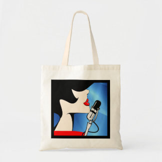 Songbird Canvas Tote Bag, Music Themed