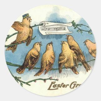 Songbird Choir Sky Singing Song Tree Classic Round Sticker