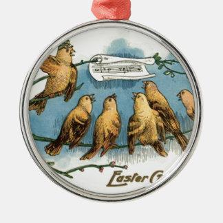 Songbird Choir Sky Singing Song Tree Metal Ornament