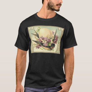 Songbird Easter Egg Crocus Lily Of The Valley T-Shirt