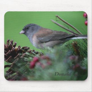 songbird in Christmas setting mousepad