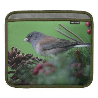 songbird in holiday setting iPad sleeve