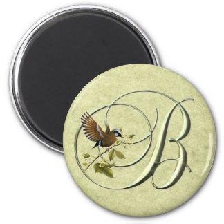Songbird Initial B 2 Inch Round Magnet