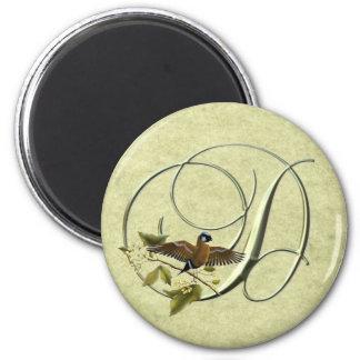 Songbird Initial D 2 Inch Round Magnet