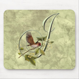 Songbird Initial J Mouse Pad