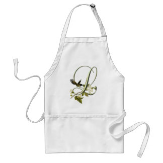 Songbird Initial L Adult Apron