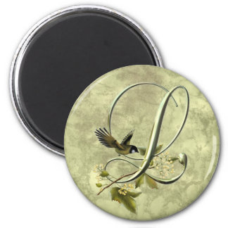 Songbird Initial L 2 Inch Round Magnet
