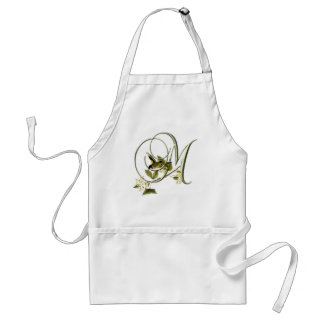 Songbird Initial M Adult Apron