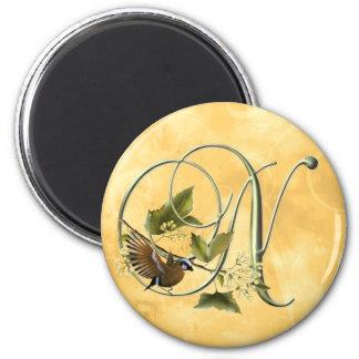 Songbird Initial N 2 Inch Round Magnet