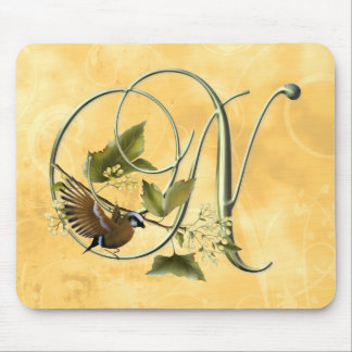 Songbird Initial N Mouse Pad