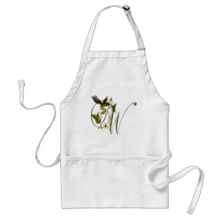 Songbird Initial W Adult Apron