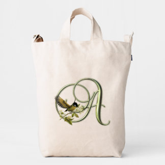 Songbird Monogram A Duck Bag