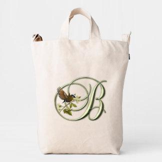 Songbird Monogram B Duck Bag