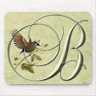 Songbird Monogram B Mouse Pad
