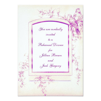 Songbird Shabby Chic Rehearsal Dinner 5x7 Paper Invitation Card