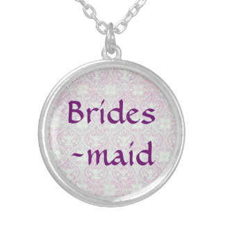 Songbird Shabby Chic WEDDING Bridesmaid Sterling Silver Necklace